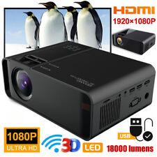 18000Lumens 4K 1080P Hd WiFi Mini 3D Led Game Home Theater Projector Cinema Hdmi