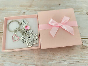 Personalised Birthday Gifts keyring Mum Daughter Niece Sister Nana -Gift for her
