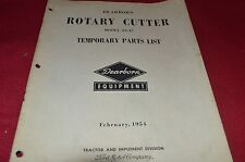 Ford Tractor 22-47 Rotary Cutter Parts Book Manual Chpa