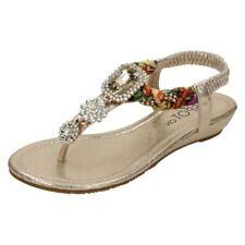 Sandalo gioiello in argento 100% pelle per il mare da donna