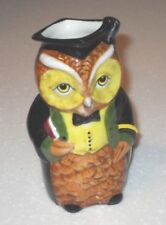 OWL Toby Jug Woodland Collection Staffordshire Ceramics Mr Chips Hand Painted