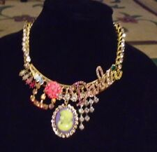 """NWT AUTH BETSEY JOHNSON """"DARLIN"""" STATEMENT NECKLACE"""