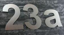 Edelstahl Look Design Hausnummer 15 cm hoch / ALLE ZIFFERN SOFORT AB LAGER (HN1)