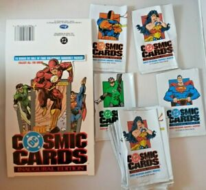 1991 DC Cosmic Cards Inaugural Edition Empty Display Box 36 Foil Wrappers