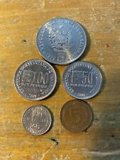 Lot of 5 Mixed Venezuela Coins dated South America