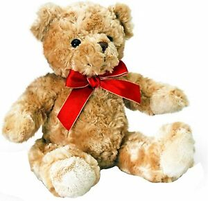 Keel Toys Traditional Bear with Red Ribbon 20cm