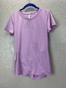 Fabletics Open Back T-Shirt Tee Top Purple Lilac Workout Athletic Size Medium