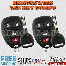 2 Replacement for Buick Chevy Pontiac Saturn Entry Remote Car Key Fob 4b b111-pt