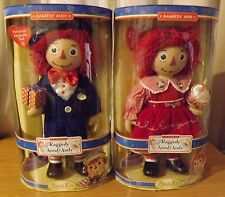 RAGGEDY ANN AND ANDY BRASS KEY PORCELAIN KEEPSAKE DOLLS LOT OF 2 NEW IN BOX*