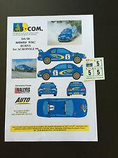 DECALS 1/24 SUBARU IMPREZA WRC BURNS RALLYE ACROPOLE 1999 WRC RALLY HASEGAWA