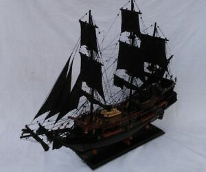 "Black Pearl Pirate Ship 22"" Pirates Of The Caribbean Ship Model L50"