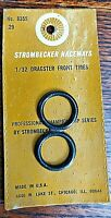 Strombecker No. 8355 Raceways 1/32 Dragster Tires - O-ring on vintage card