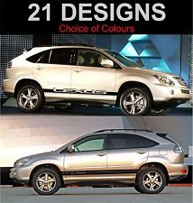 lexus rx400 side stripes decals stickers graphic side stripe both sides