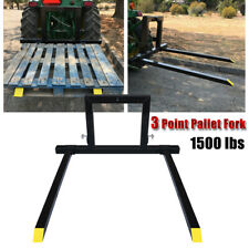 Heavy Duty 3 Point Hitch Pallet Fork Adjustable Category 1 Tractor Logs Field Us