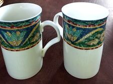 Mikasa SAN MARCO Cappuccino Mug Tall Set of Two Mosaic