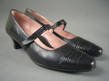 BEAUTIFEEL Black LEATHER Mary Jane PUMPS Heels ISRAEL Size 8 US/38.5 EUR