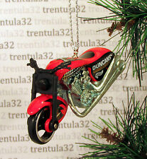 FATBOY MOTORCYCLE RED BLACK CHOPPER CHRISTMAS TREE ORNAMENT XMAS
