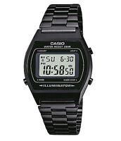 Casio B640WB-1A Mens Black Digital Retro Vintage Style Watch - European Model