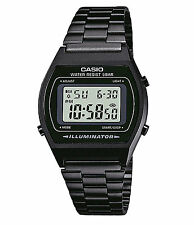 Casio B640WB-1A Mens Black Digital Retro Vintage Style Watch - European Model