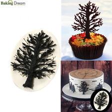 Cake Border Silicone Molds Tree Cupcake Fondant Cake Decorating Tools Chocolate