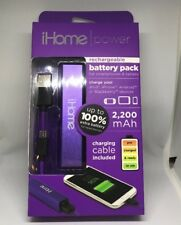 iHome Mini Power Bank, Purple