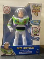 "Disney-Pixar Toy Story 4 Buzz Lightyear Talking Action Figure 12"" Tall 20 Sounds"