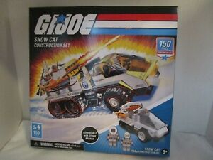 GI Joe Construction Set Snow Cat w/ 2 Mini Figs & 150 Pieces NEW