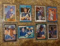 (8) Dave Magadan 1987 Fleer Donruss Topps Sportflics Rookie Card Lot RC 86 Mets