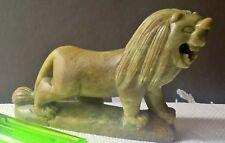 Buen hardstone Jade Estatua de León