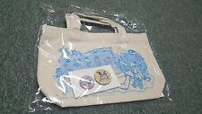 Hatsune Miku Vocaloid- Japan Prize-Tote Bag & Pin Set- Type A- Happy J- New