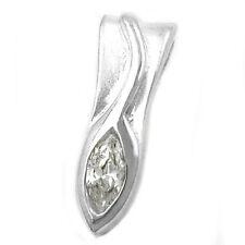 Ovale aus echtem Edelmetall-Anhänger ohne Steine