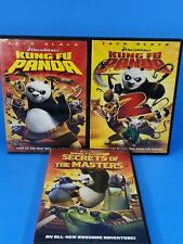 Kung Fu Panda DVD Lot: Parts 1 2 and Secrets of the Masters