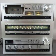 Vintage Hifi  Kenwood Amplifier KA 400 Tuner KT-413  Cassette Deck KX-400  1980