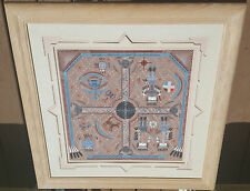 Navajo Sand Painter Wilfred Ben Meyerson Sand Art Picture-Framed