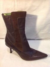 Kenneth Cole Reaction Brown Mid Calf Leather Boots Size 7.5M (U.K. Size 5.5)