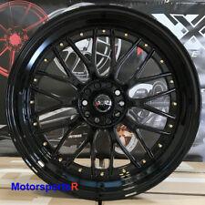 XXR 521 20 Black Gold Rivets Staggered Rims Wheels 5x114.3 Fit Chevrolets Camero