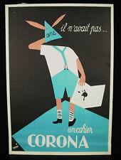 Tomi UNGERER les cahiers Corona papeterie affiche originale publicité ancienne