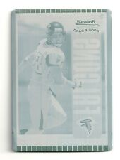 2005 Bowman Chrome Roddy White Cyan Printing Plate Rookie Card #1/1 Falcons