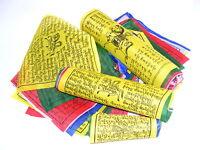 25 TIBETISCHE GEBETSFAHNEN 24cm x 24cm Länge 6m  NEPAL PRAYER FLAGS HIMALAYA