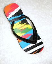 MISSONI Havaianas Flip Flops Rare New w/ Swarovski Crystal Multicolor Bling Shoe