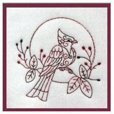 1113:   Machine Embroidery Designs - Beautiful Birds - Redwork
