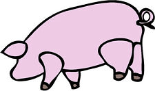 """Pink Floyd """"PIG"""" logo  car bumper sticker decal 5"""" X 7"""""""