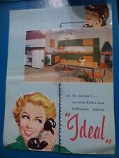 vecchio depliant pubblicitario CUCINE IDEAL modernariato anni 50/60