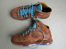 "Nike Air Lebron 10/x ext qs 45 ""Hazelnut"" brown suede 2013 Hazelnut-td pl BL-sl"