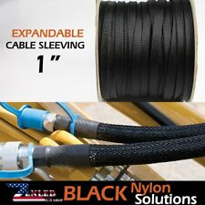 "1"" Expandable Braided Sleeving Electrical Cables Wire Wrap Protective Soft 240"""