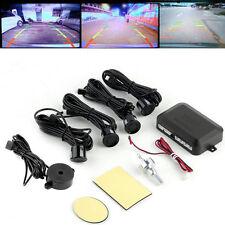 4Parking Sensors Car Backup Reverse Radar Rearview Mirror Colored LED Display UL