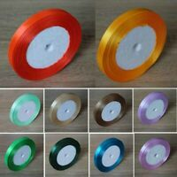 Satin Ribbons Single Sided Faced Premium Full Roll 10mm 15mm 20mm 25mm 40mm 50mm