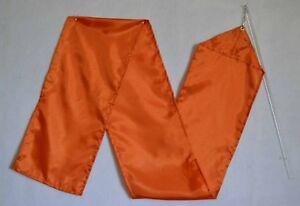 """Orange Poly Ribbon/ Streamer w 18"""" Rod -59""""x7.5"""" -W  -  Worship Dance"""