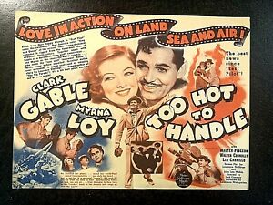 TOO HOT TO HANDLE 1938 MOVIE HERALD - CLARK GABLE, MYRNA LOY