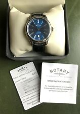 **GENTS ROTARY WATCH BLUE LIMITED EDITION WATERPROOF**